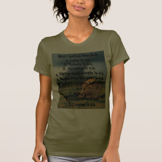 O que eu aprendi de Bush T-shirts