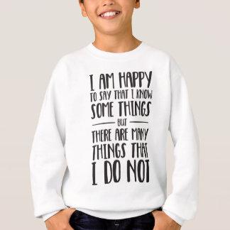 O que eu sei - t-shirt inspirado agasalho