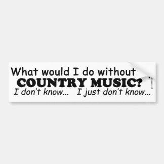 O que mim faça, música country adesivo para carro