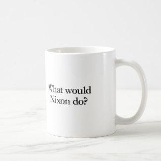 o que nixon faria caneca de café