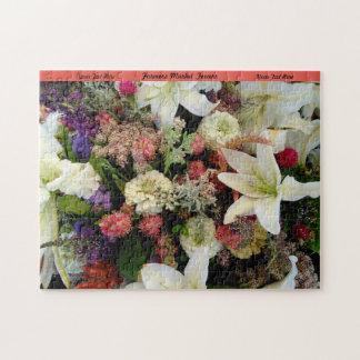 O quebra-cabeça das flores personaliza o presente