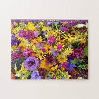 O quebra-cabeça feliz das flores personaliza