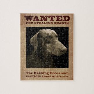 O quebra-cabeça galhardo do Doberman