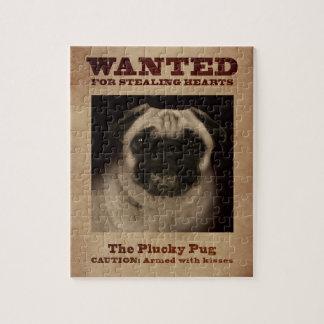 O quebra-cabeça valente do Pug