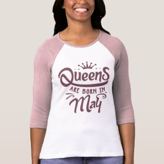 O Queens é nascido no t-shirt do Raglan da luva Camiseta