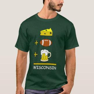 O queijo mais o futebol mais a cerveja iguala camiseta