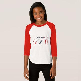 O Raglan 1776 da menina Camiseta