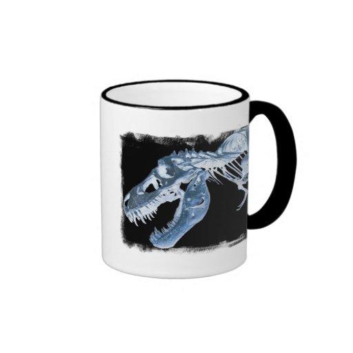O raio X azul & preto de T-Rex desossa a foto Canecas