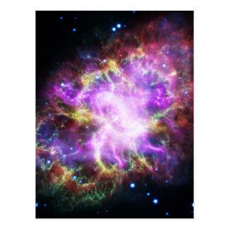 O raio X de Chandra na nebulosa de caranguejo Cartão Postal