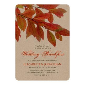 O ramo vermelho de Sumac sae do pequeno almoço do Convite 12.7 X 17.78cm