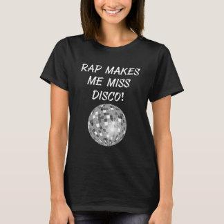 O rap faz me a senhorita Disco Bola Groovy Música Camiseta