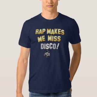 O rap faz-me o disco da falta camisetas
