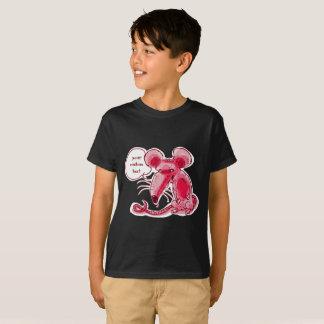 o rato feio diz algo desenhos animados engraçados camiseta