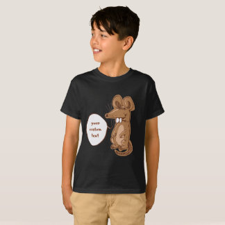 o rato grande doce diz algo desenhos animados camiseta
