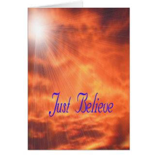 O raysJust de Sun acredita o cumprimento religioso Cartão Comemorativo