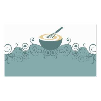o recipiente whisk o cartão de visita do cozinheir