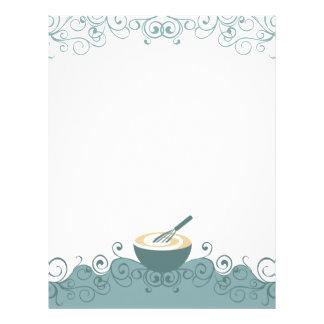 o recipiente whisk o fli do cabeçalho do cozinheir papeis de carta personalizados