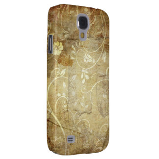 o redemoinho marrom do vintage floresce a arte galaxy s4 cover