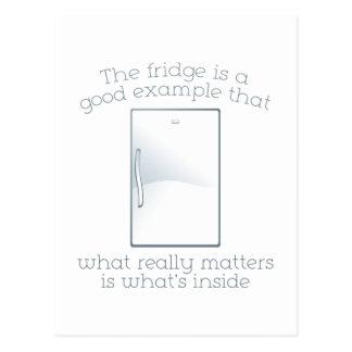 O refrigerador é um bom exemplo cartão postal