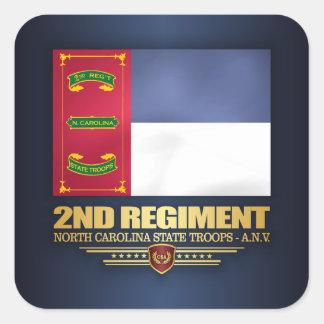 ò Regimento, tropas do estado de North Carolina Adesivo Quadrado