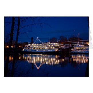 O rei na noite - Sacramento do delta, CA Cartão Comemorativo