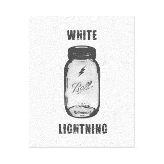 """""""O relâmpago branco"""" Moonshine a arte das canvas"""