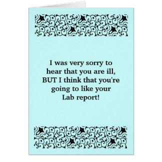 O relatório do laboratório obtem o cartão bom