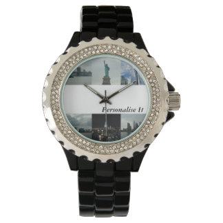 O relógio das mulheres personalizadas de New York
