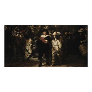 O relógio de noite por Rembrandt Van Rijn Cartões Com Fotos