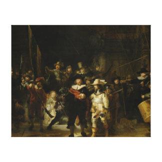 O relógio de noite, Rembrandt Van Rijn Impressão Em Canvas