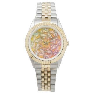O relógio de pulso das mulheres feitas sob
