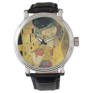 O relógio do beijo de Klimts
