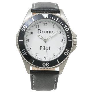 O relógio do piloto do zangão