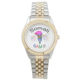 O relógio Dois-Tonificado costume de Sam somaliano