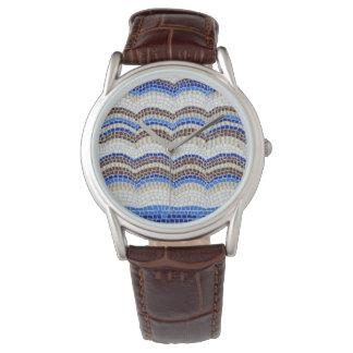 O relógio dos homens azuis do mosaico