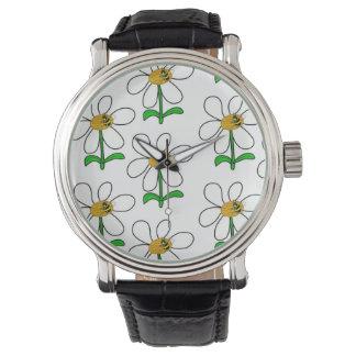 O relógio dos homens de flower power da abelha