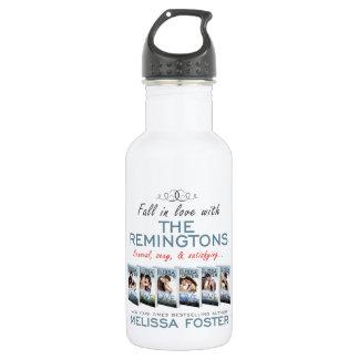 O Remingtons ostenta a garrafa de água