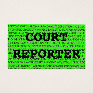 O repórter de corte exprime o cartão de visita no