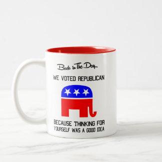 O republicano pensa para o senhor mesmo a caneca