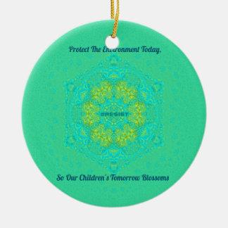 O #Resist protege a mandala do Anti-Trunfo do Ornamento De Cerâmica