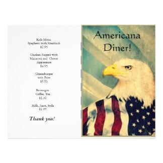 O restaurante fornece a americana panfleto coloridos