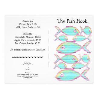 O restaurante fornece o bloco do menu flyer 21.59 x 27.94cm