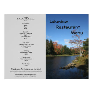 O restaurante fornece o design da beira do lago do panfleto coloridos