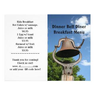 O restaurante fornece o menu de Bell de comensal Panfleto Personalizado