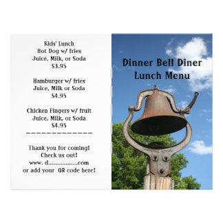 O restaurante fornece o menu de Bell de comensal p Panfleto Personalizados