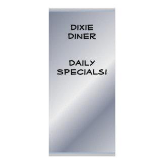 O restaurante fornece Specials diários 10.16 X 22.86cm Panfleto