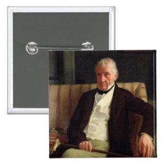 O retrato de Hilário desgaseifica Bóton Quadrado 5.08cm