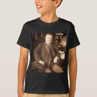 O retrato do vintage de Teddy Roosevelt dos alces Camiseta