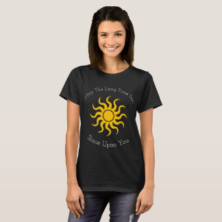 O reverso pode o brilho de Sun dos muitos tempos Camiseta
