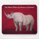 O rinoceronte branco mousepad